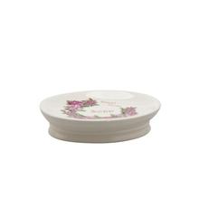 Saboneteira Bege em Cerâmica Sweet Home Importado