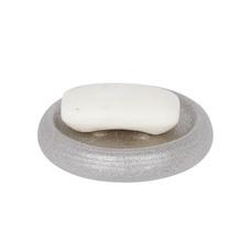 Saboneteira de Bancada em Cerâmica Redonda Prata Iris Sensea