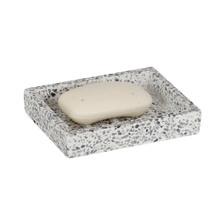Saboneteira de Bancada em Pedra Retangular Branco Terrazo Sensea