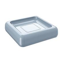 Saboneteira em Plático Azul Cube Coza