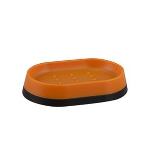Saboneteira Laranja e Preta em Plástico Joy Importado