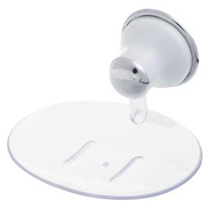Saboneteira Parede Acrílico e Plástico Oval Milano Incolor