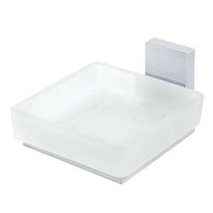 Saboneteira Parede Metal Quadrada Perfetto Branco