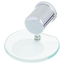 Saboneteira Parede Metal, Plástico e Vidro Redonda Fit Prata