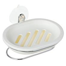 Saboneteira Parede Plástico Oval Acessórios de Pia Branco