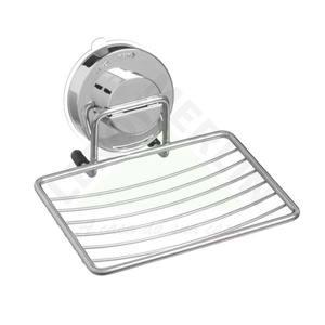 Saboneteira Parede Plástico/Inox Quadrado Prata Krader