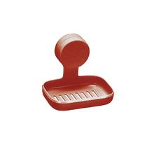 Saboneteira Parede Plástico Retangular Vermelho