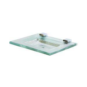 Saboneteira de Parede em Cristal Incolor 15x12x0,8cm Fermar