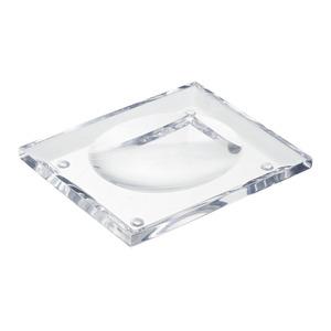 Saboneteira Pia Acrílico Quadrada Luxo Cristal