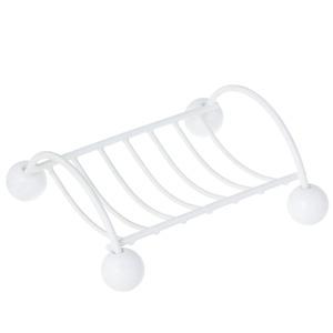 Saboneteira Pia Meral Retangular Banheiro Branco