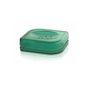 Saboneteira Pia Plástico e Metal Verde