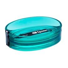 Saboneteira Pia Plástico Oval Spoom Verde Transparente