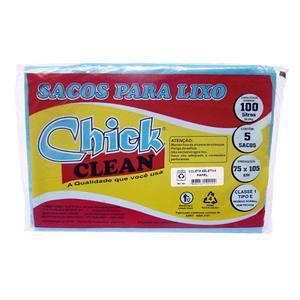 Saco para Lixo Reciclável 5 unidades 100L Azul Chick Home