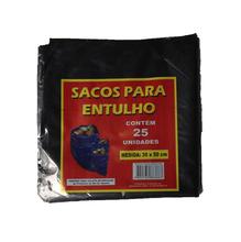 Saco Plástico de Entulho 30x50m com 25 unidades Brasil Bag