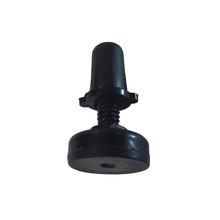 """Sapata niveladora 20mm c/ parafuso 1/4"""" x 25,4mm c/ bucha zincado preto Fixtil"""