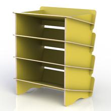 Sapateira 8 Pares Amarela 62,5x50x34,6cm Stalo