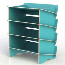 Sapateira 8 Pares Azul 62,5x50x34,6cm Stalo