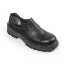 Sapato Elástico Couro Vaqueta Preto com Biqueira Plástico N.37 Bracol