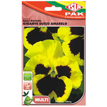 Semente Amor-Perfeito Gigante Suíço Amarelo Isla Sementes