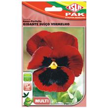 Semente Amor-Perfeito Gigante Suíço Vermelho Isla Sementes
