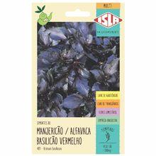 Semente Manjericão/Alfavaca Basilicão Vermelho Isla Sementes