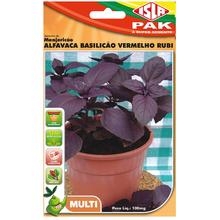 Semente Manjericão Alfavaca Basilicão Vermelho Rubi Isla Sementes