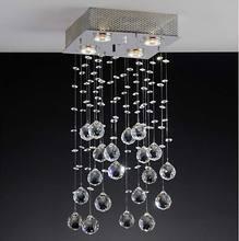 Semi Plafon Brilhante 4 lâmp. 50W 110V 25x25x37cm Cristal Bronzearte