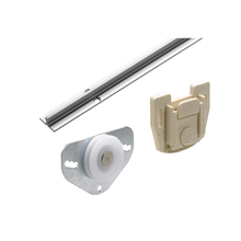 Sistema para Porta de Correr de Alumínio até 25kg Prata