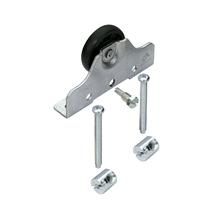 Sistema para Porta de Correr de Vidro Aço Prata até 50kg