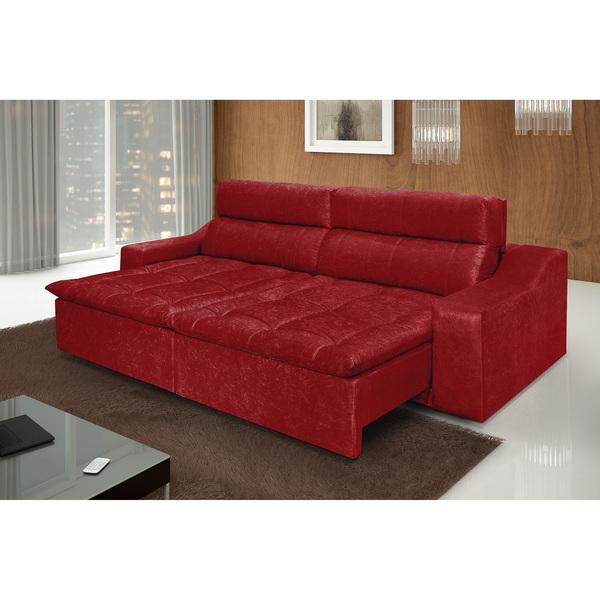 Sofá 4 Lugares Connect Com Pillow Retrátil E Reclinável