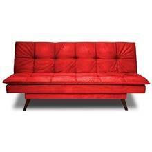 4f00358b7 Sofá Cama 2 Lugares Vermelho em Veludo 1