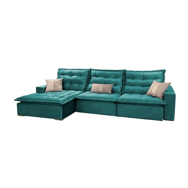 Sensational Sofa Retratil E Reclinavel 3 Lugares Esmeralda Com Chaise Evergreenethics Interior Chair Design Evergreenethicsorg