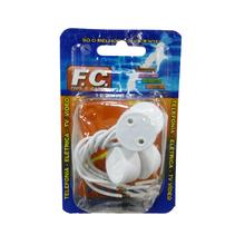 Soquete para Lâmpada Fluorescente Branco FC Fios e Cabos