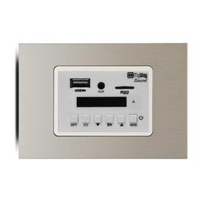 Sound Player 42  Mini Receiver de Parede  Platinum   MyWay Domótica