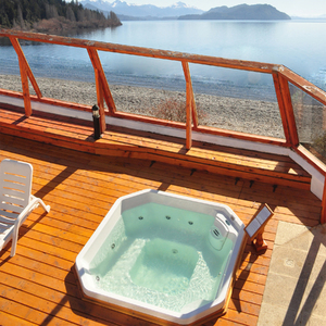 spa com hidromassagem aquecedor cromoterapia 91x214x214cm. Black Bedroom Furniture Sets. Home Design Ideas