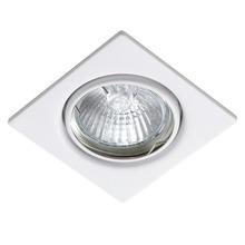 Spot de Embutir GU10 Branco Quadrado Metal Técnica