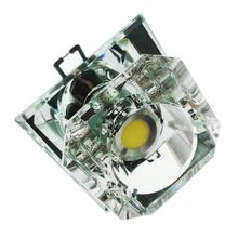 Spot de Embutir LED Diamante Quadrado Cristal Incolor 3W Bivolt