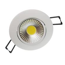 Spot de Embutir LED Diamante Redondo Alumínio Branco 3W Bivolt