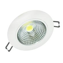 Spot de Embutir LED Diamante Redondo Alumínio Branco 7W Bivolt