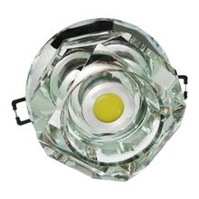 Spot de Embutir LED Diamante Redondo Cristal Incolor 3W Bivolt