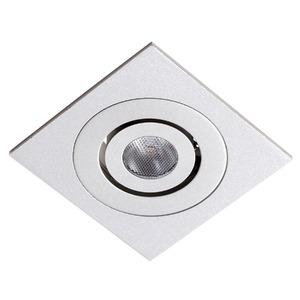 Spot de Embutir LED Ourolux Quadrado Alumínio Branco 2,5W Bivolt