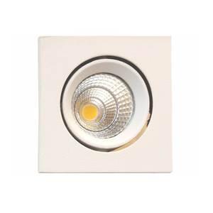 Spot de Embutir LED Golden Quadrado Metal Branco 6W Bivolt