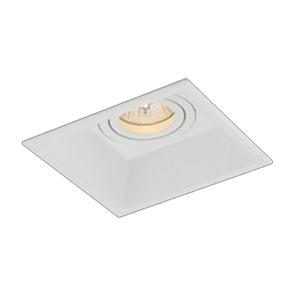Spot de Embutir NS935 Bella Quadrado Alumínio Branco 1 Lamp Bivolt