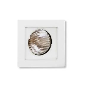 Spot de Embutir Metal Técnica Quadrado Alumínio Branco 50W Bivolt