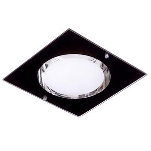 Spot de Embutir JM Iluminação Quadrado Alumínio/Vidro Preto 20W Bivolt