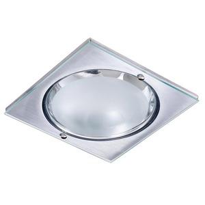 Spot de Embutir Metal Técnica Quadrado Metal e Vidro Prata 2 Lâmpadas Bivolt