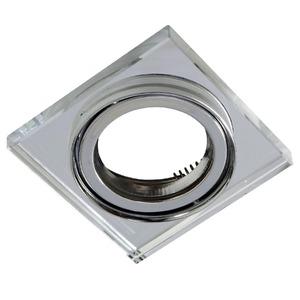 Spot embutir Aço/Vidro Transparente Incolor Bella Iluminação