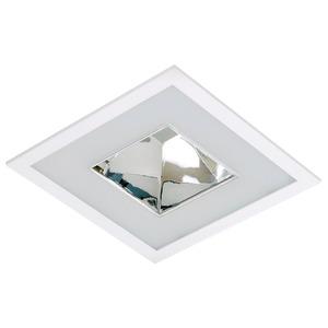 Spot embutir Acrílico/Alumínio  Branco/Prata Fosco/Cromado Bonin