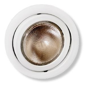 Spot embutir Alumínio Branco Fosco Metal Técnica