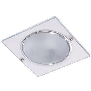 Spot embutir Alumínio/Vidro Branco Fosco Metal Técnica